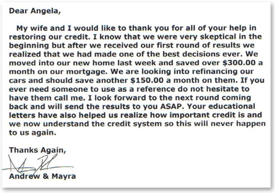 Andrew & Mayra on Helping with Credit Restoration