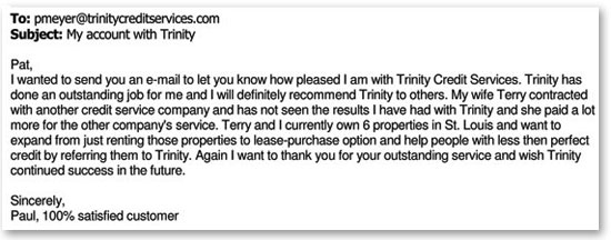 Paul Recommends Trinity Credit Services For Business Owners